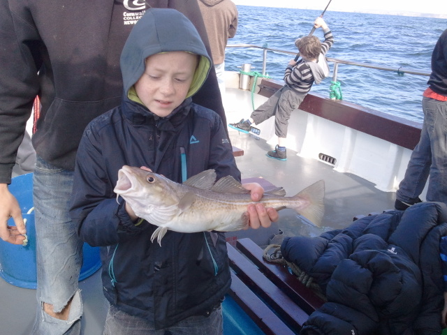 "Fynn caught this Cod Aboard ""Bounty"""