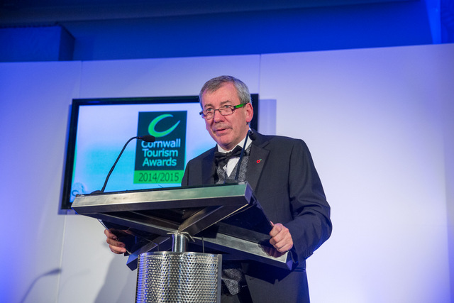 Malcolm Bell at Cornwall Tourism Awards
