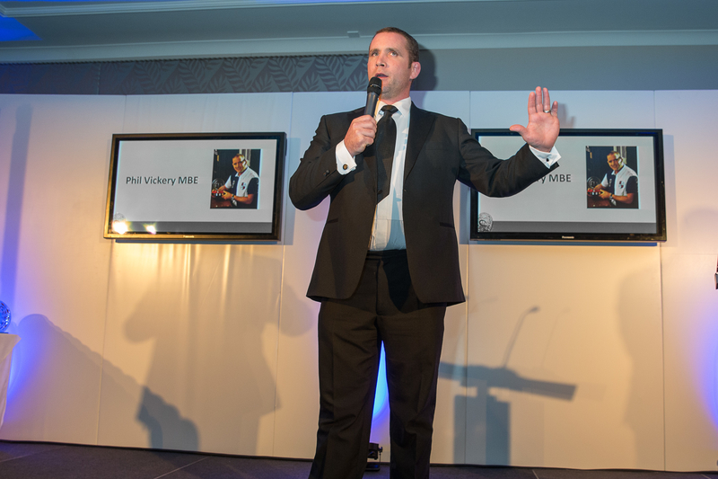 "Phil Vickery MBE alias "" The Raging Bull""...Presenting Awards"
