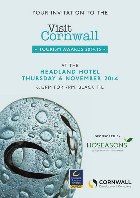 Cornwall Tourism Award Invite