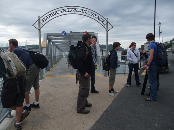 Scientific Marine Crew gather at Plymouth Sound