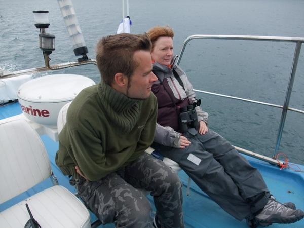 Bex and Dan spot from Atlantic diver upper deck