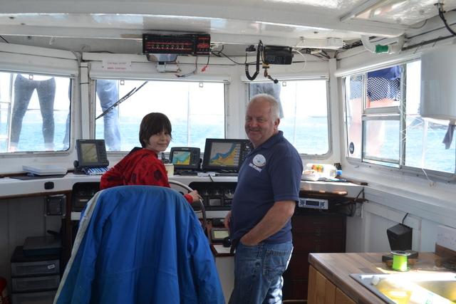 Derek Our Friendly Skipper Showing the Workings of the Wheelhouse