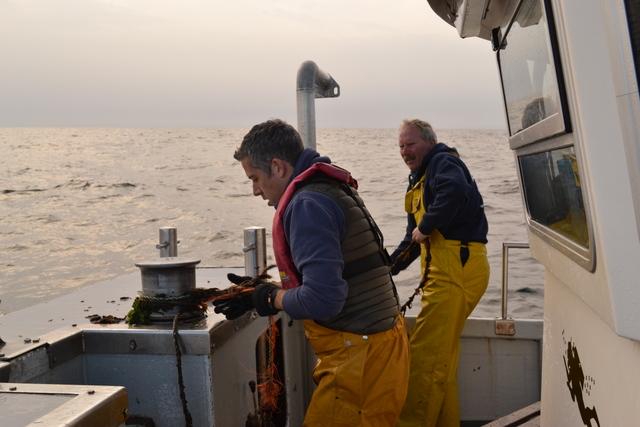 Matt and Chris retrieve C-Pod..dolphin listening device