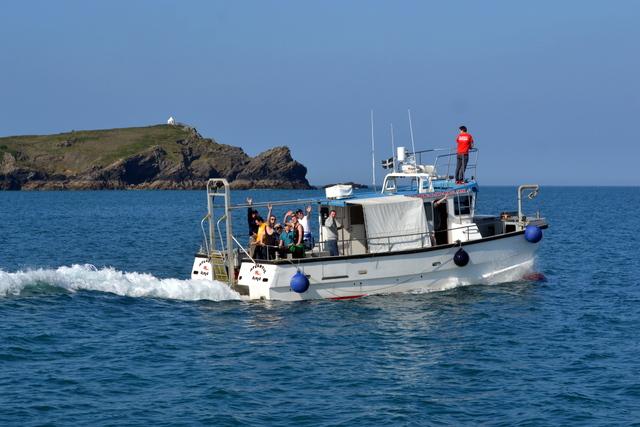 """Huge Super Fast Catamaran """"Atlantic Diver"""" of Newquay"""
