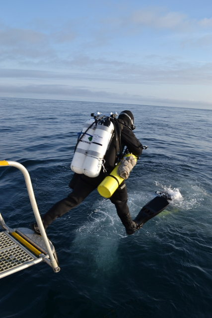 stunning weather at sea for diving