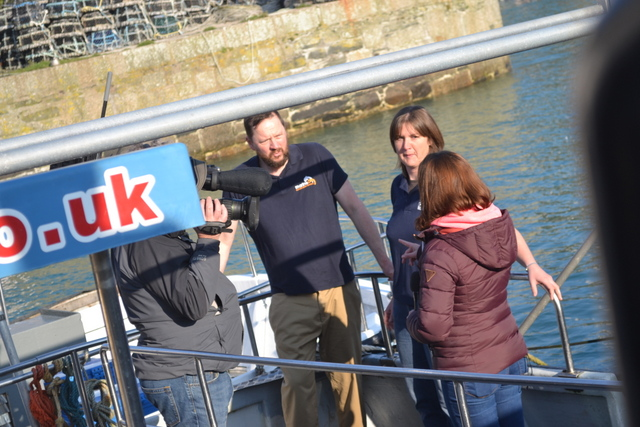 BBC News Crew Promoting Basking Shark Tagging Program ..asking for your support