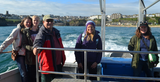 Newquay Marine Group Plankton day participants aboard Atlantic Diver