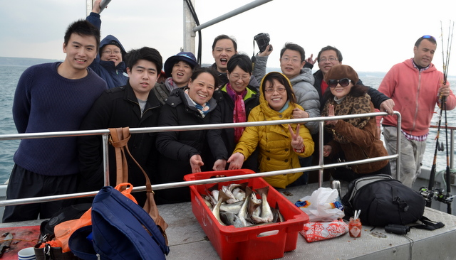 Happy Anglers during Easter newquay Fishing Trip