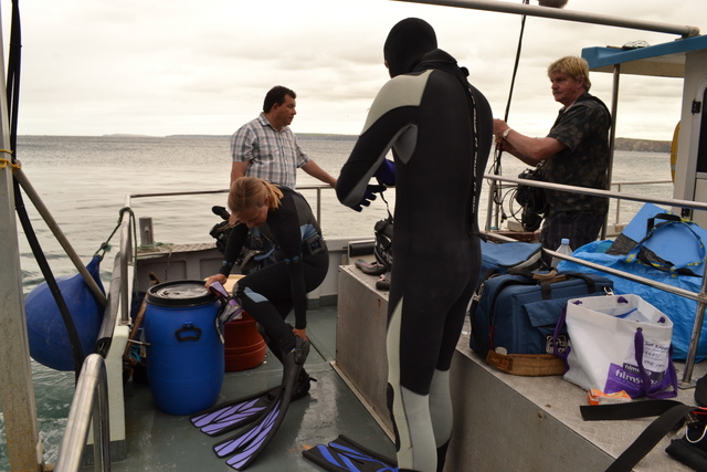 One Show Film Crew abaord Atlantic Diver