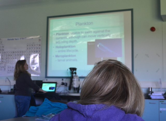 Cornwall College plankton lecture with Newquay Marine Group