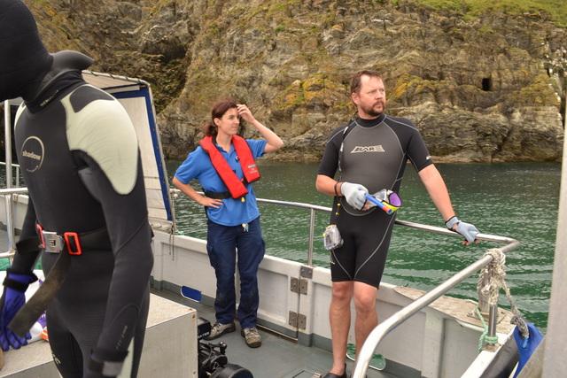 Plymouth Marine Aquarium biologist and Marine Conservation Society Biologist
