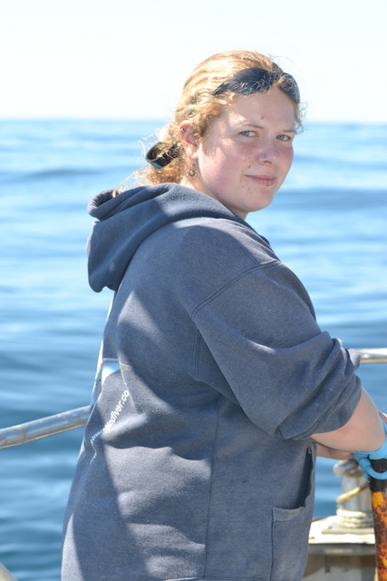 "Marine Conservation Student ""Leyla"" last day of work experience on board Atlantic Diver"