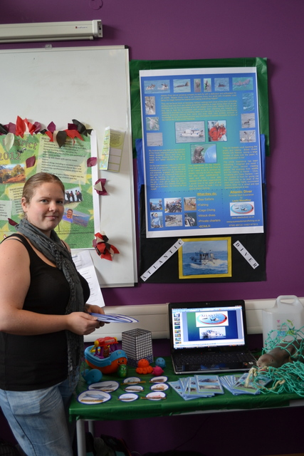 Leyla's work experience display for Newquay Sea Safaris and Fishing