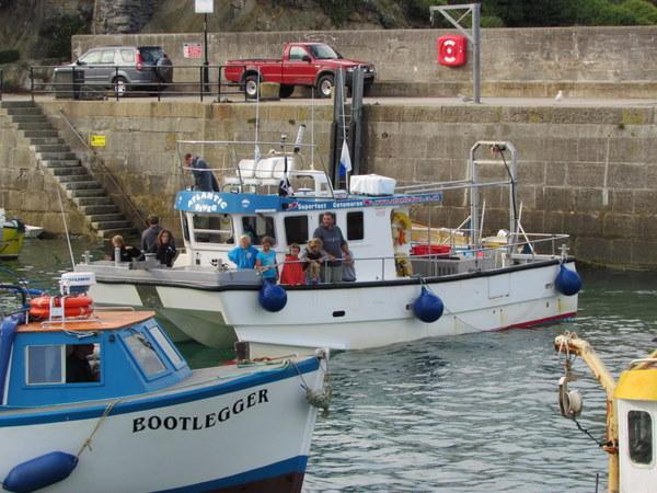 Atlantic Diver returns to Newquay Harbour