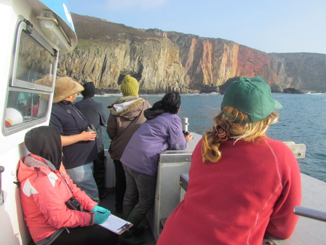 passengers enjoy spectacular geology aboard Atlantic Diver along tin mined St Agnes