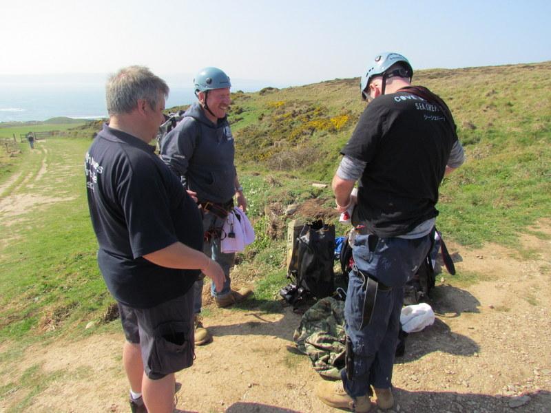 BDMLR Medics Prepare Climbing Gear
