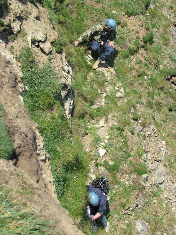 Steep Cliff Face Descent