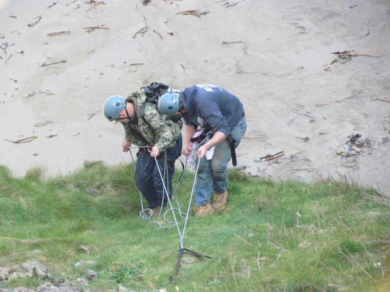 Marine Mammal Medics begin their descent