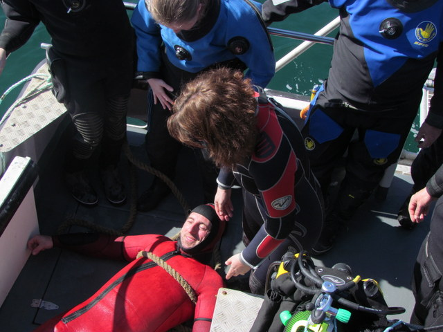 Resuscitation begins once on board Atlantic Diver