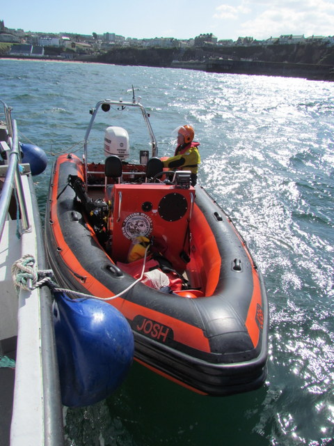 "British Divers Marine Life Rescue Rhib ""Josh"" alongside ""Atlantic Diver"""