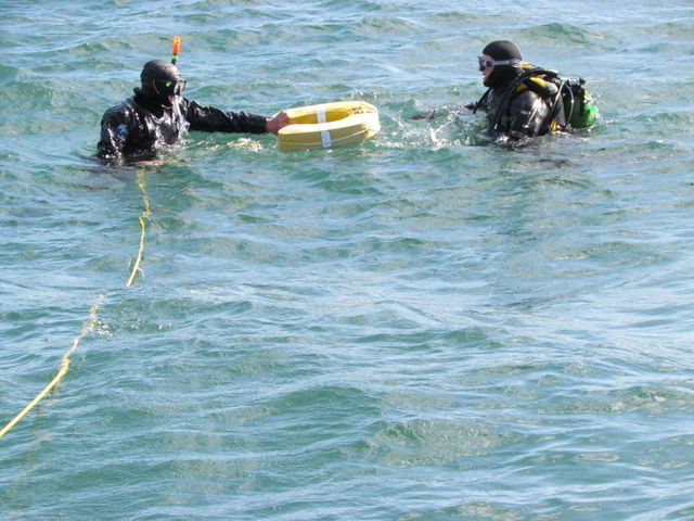Using Rescue Aids for agitated Diver
