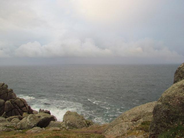 Rainbow over the choppy seas