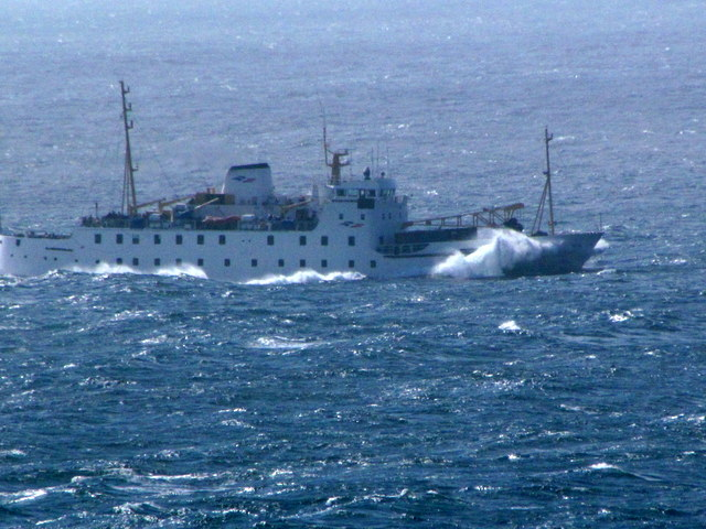 Scillonian off to the Isles of Scillies braving force 5-6
