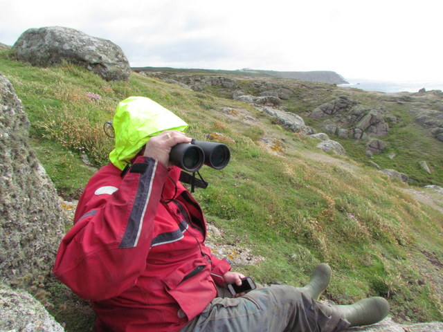 Chris on continual Basking Shark Watch