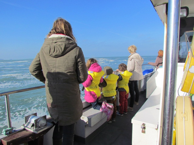 "Family enjoying Newquay Sea Safari aboard ""Atlantic Diver"""