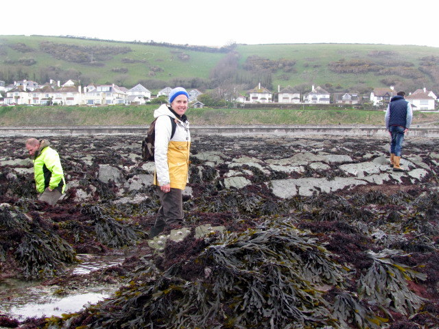 Gabi and Kyle from Newquay Marine Group on their first Rockpool Ramble