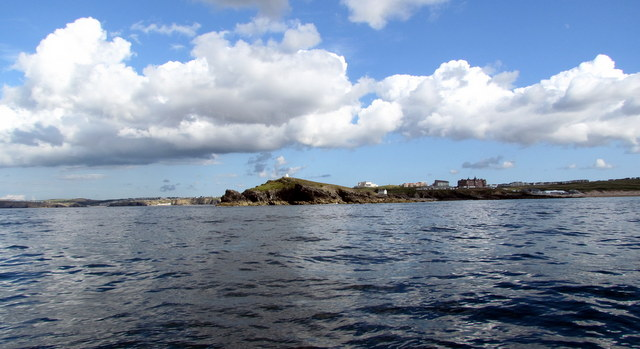 Panaramic views from Newquay Sea Safaris of Newquay Coastline