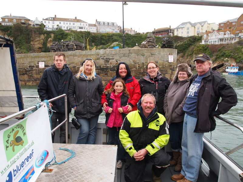 Tag a Turtle charity Newquay Sea Safari aboard Atlantic Diver
