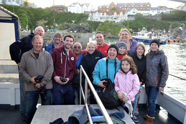 Newquay Marine Group Members Team in Newquay Harbour
