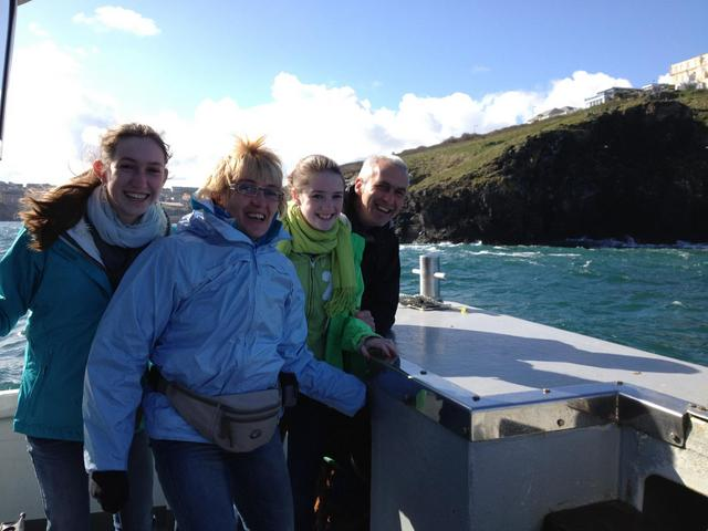 "Belgium Family having fun at Easter Aboard ""Atlantic Diver"" Sea Safari"